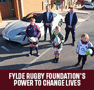 FYLDE RUGBY FOUNDATION'S POWER TO CHANGE LIVES